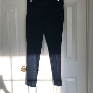 Navy and black checkered dress pants